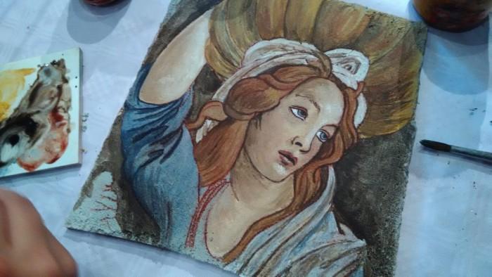 Corso di Affresco tra i dipinti di Leonardo